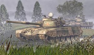 Обои Танки Chinese Tank Type 98 Армия 3D_Графика фото