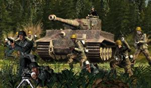Обои Танки Солдаты Tiger Армия 3D_Графика фото
