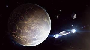 Обои Планеты Корабли Фэнтези Космос 3D_Графика фото