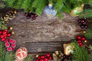 Обои Праздники Новый год Ветки Шишки Шаблон поздравительной открытки Еда картинки