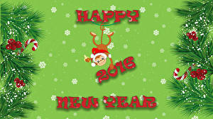 Обои Праздники Обезьяны Новый год Векторная графика 2016 Животные фото