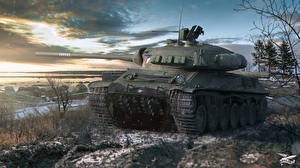 Обои World of Tanks Танки Skoda TVP T 50/51 Игры фото
