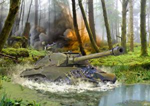 Обои Танки Рисованные Is3 Армия фото