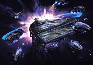 Обои Корабли X Rebirth Игры Фэнтези Космос фото