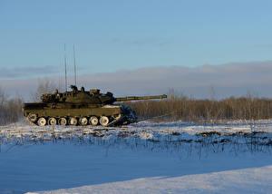 Обои Танки Зима Снег Leopard 1 Армия фото