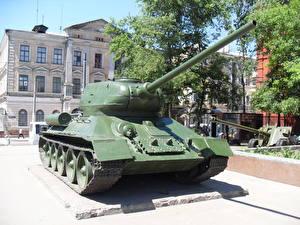Обои Танки Памятники Украина T-34-85, Kharkiv Армия фото
