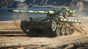 Обои World of Tanks Танки AMX 13 90 Игры фото