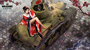 Обои World of Tanks Танки Nikita Bolyakov Type 97 Te-Ke Игры фото