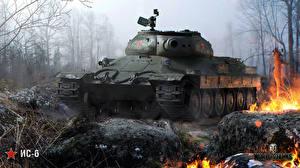 Обои World of Tanks Танки IS-6 Игры фото