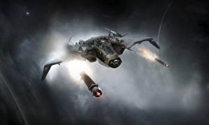 Обои Star Citizen Корабли Ship The Gladiator LTI (GIFT) Игры Космос фото