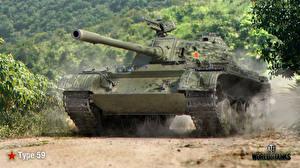 Обои World of Tanks Танки Type 59 Игры фото