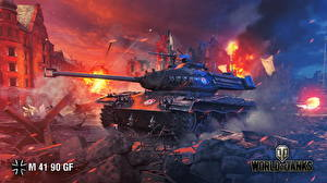 Обои World of Tanks Танки M 41 90 GF Игры фото