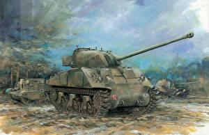 Обои Танки Рисованные Firefly Ic Welded Hull Армия фото
