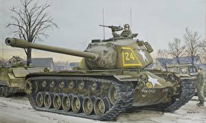 Обои Танки Рисованные M103A1 Heavy Армия фото