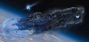Обои Корабли Техника Фэнтези Dreadnought Игры Фэнтези Космос фото
