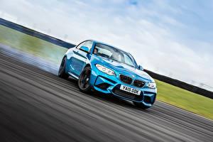 Обои BMW Голубой M2 Coupe F87 Автомобили картинки