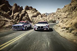 Обои BMW Двое Движение 2015 CSL Hommage R Автомобили картинки