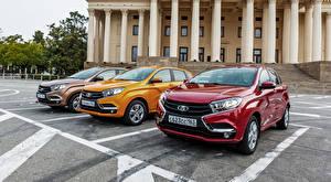 Обои Россия Лада Трое 3 Парковка XRAY Автомобили картинки