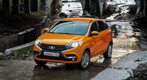 Обои Российские авто Лада Оранжевый XRAY Автомобили картинки