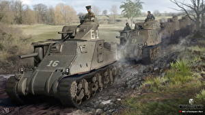 Обои World of Tanks Танки Nikita Bolyakov M3 Lee Игры фото