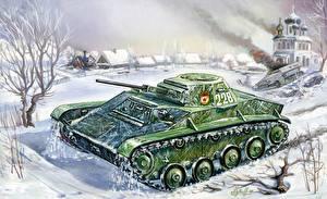 Обои Танки Рисованные T-60 Армия фото
