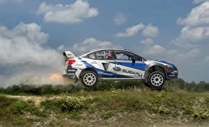 Обои Subaru Сбоку Движение 2015-16 WRX STI Rally America Автомобили картинки
