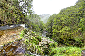 Обои Великобритания Леса Реки Водопады South Wales Природа картинки