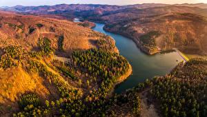 Обои Чехия Пейзаж Реки Горы Леса Liskovec Природа картинки