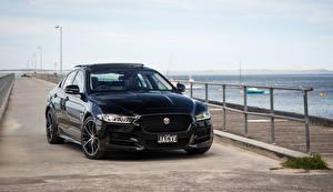 Обои Jaguar Черный Металлик 2015 XE 25t R-Sport Автомобили картинки