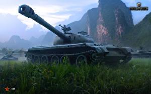 Обои World of Tanks Танки Рисованные Трава 121 Игры фото