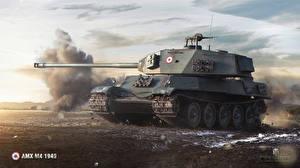Обои World of Tanks Танки AMX M4 1949 Игры фото