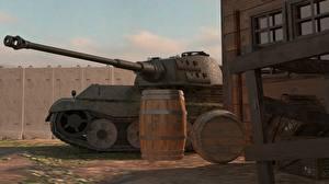 Обои World of Tanks Танки Бочка Panther Игры 3D_Графика фото