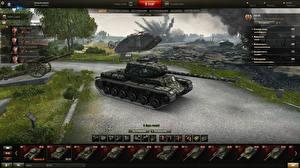 Обои World of Tanks Танки KV-85 in the hangar Игры фото