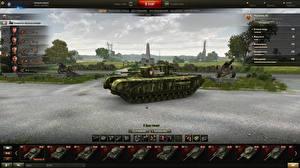 Обои World of Tanks Танки Churchill III in the hangar Игры фото