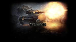 Обои World of Tanks Танки Выстрел FV201 (A45) Игры фото