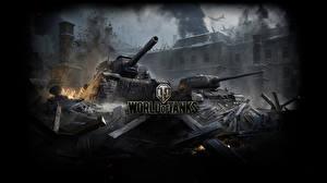 Обои САУ Танки World of Tanks ISY-152, T-34-85 Игры фото