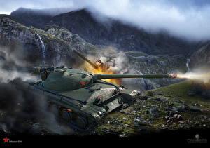 Обои World of Tanks Танки Выстрел Object 430 Игры фото