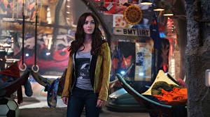 Обои Черепашки-ниндзя 2014 Megan Fox Куртка Фильмы Знаменитости Дети фото
