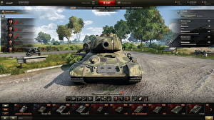 Обои World of Tanks Танки T-34-85 in the hangar Игры фото