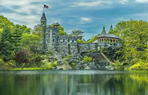 Обои США Парки Нью-Йорк Манхэттен HDR Central Park Города картинки