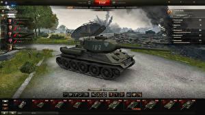 Обои World of Tanks Танки T-34-85 Rudy in the hangar Игры фото