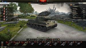 Обои World of Tanks Танки Lowe in the hangar Игры фото