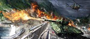 Обои Armored Warfare Танки Вертолеты Выстрел Armata Игры фото