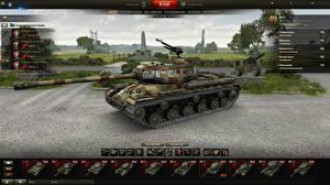 Обои World of Tanks Танки IS-2 in the hangar Игры фото