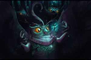 Обои Совообразные Волшебные животные Магия Фэнтези картинки
