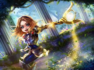 Обои League of Legends Магия Посохи Chibi Lux Игры Девушки Фэнтези картинки