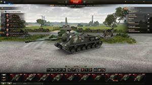 Обои World of Tanks САУ ISU-122C in the hangar Игры картинки