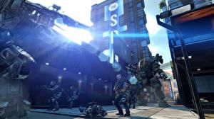 Обои Битвы Солдаты Робот Titanfall Игры картинки