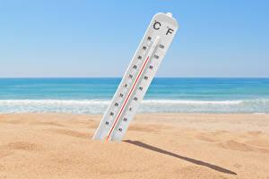 Обои Море Песок Пляж Градусник Природа картинки