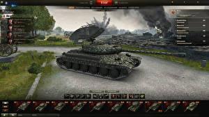 Обои World of Tanks Танки IS-6 in the hangar Игры фото